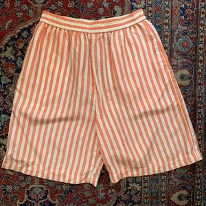 Vintage striped silk shorts